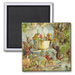Cooking In The Gnome Kitchen 2 Inch Square Magnet