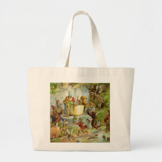 Cooking In The Gnome Kitchen Large Tote Bag