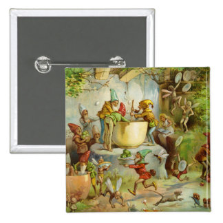 Cooking In The Gnome Kitchen Pinback Button