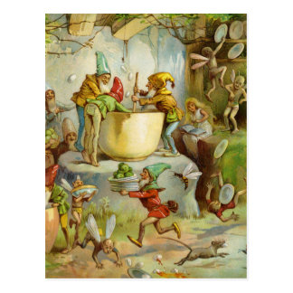 Cooking In The Gnome Kitchen Postcard