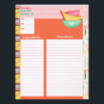 "Cooking Is An Art Recipe Insert Letterhead<br><div class=""desc"">These Recipe Inserts are the perfect match to our &quot;Cooking Is An Art&quot; personalized recipe binders,  or any recipe binder!  Matching Recipe Binder Sold Here: https://www.zazzle.com/cooking_is_an_art_recipe_binder-127573934979392301</div>"