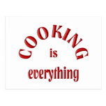 Cooking is Everything Post Card
