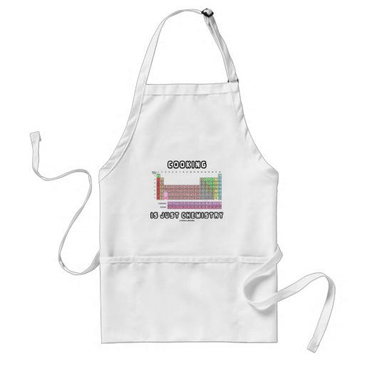 Cooking Is Just Chemistry (Periodic Table) Aprons