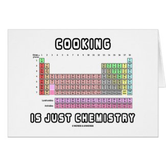 Cooking Is Just Chemistry (Periodic Table) Cards