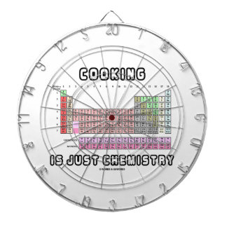Cooking Is Just Chemistry (Periodic Table) Dartboard With Darts
