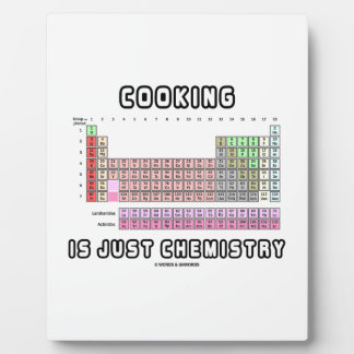 Cooking Is Just Chemistry (Periodic Table) Photo Plaque