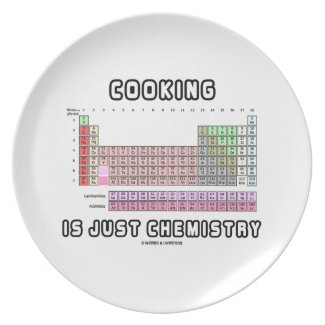 Cooking Is Just Chemistry (Periodic Table) Party Plate