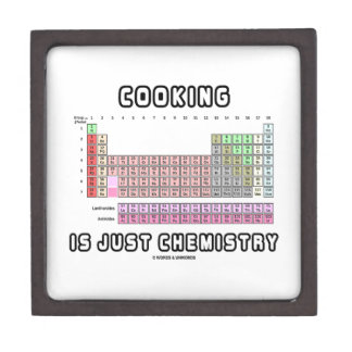 Cooking Is Just Chemistry (Periodic Table) Premium Trinket Boxes