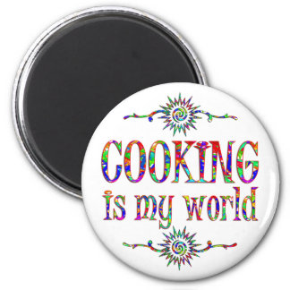 Cooking is My World 2 Inch Round Magnet