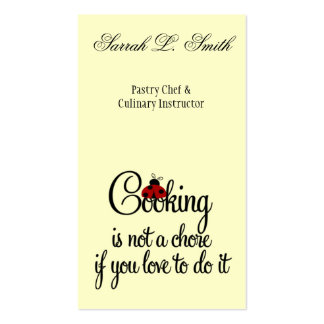 Cooking is not a Chore if You Love Business Card