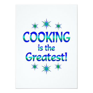 Cooking is the Greatest Custom Invites