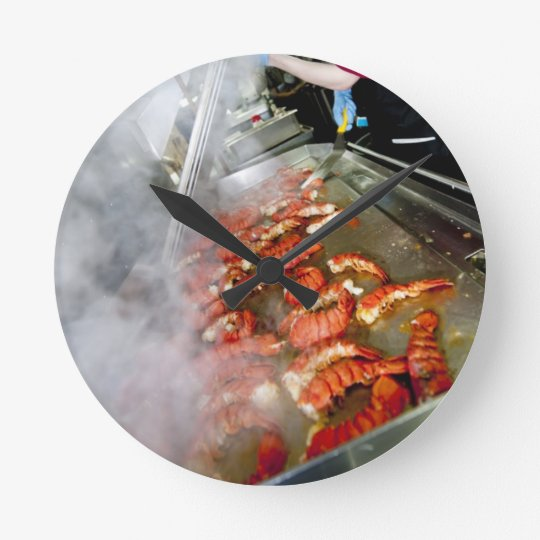 Cooking Lobster Tails Round Clock