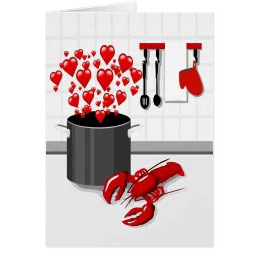 Cooking Lobster with Love Greeting Card