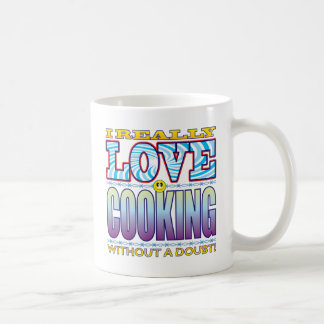 Cooking Love Face Classic White Coffee Mug