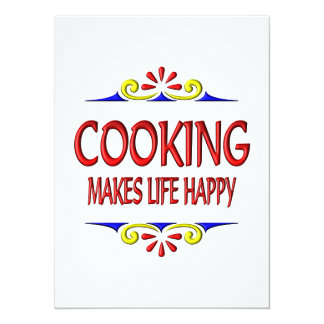 Cooking Makes Life Happy Invites