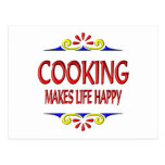 Cooking Makes Life Happy Postcard