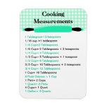 Cooking Measurement Equivalents Chart Magnet