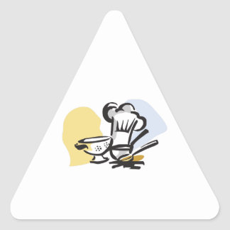 COOKING MONTAGE TRIANGLE STICKER