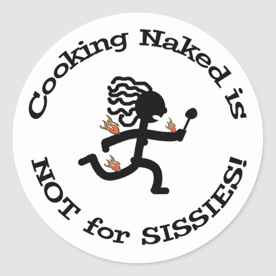 Cooking Naked - Sticker