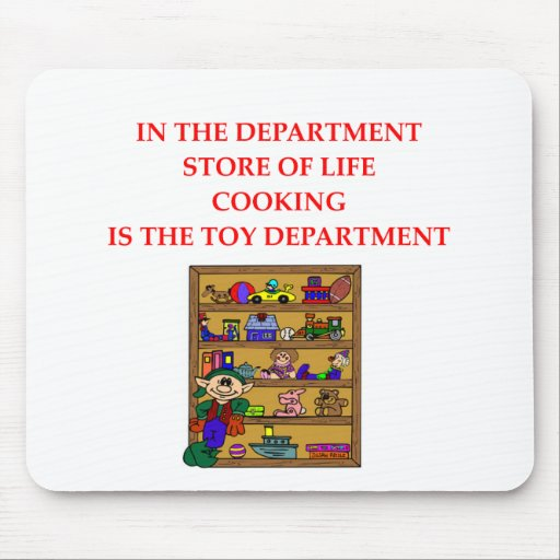 COOKING ngifts and t-sirts Mouse Pad