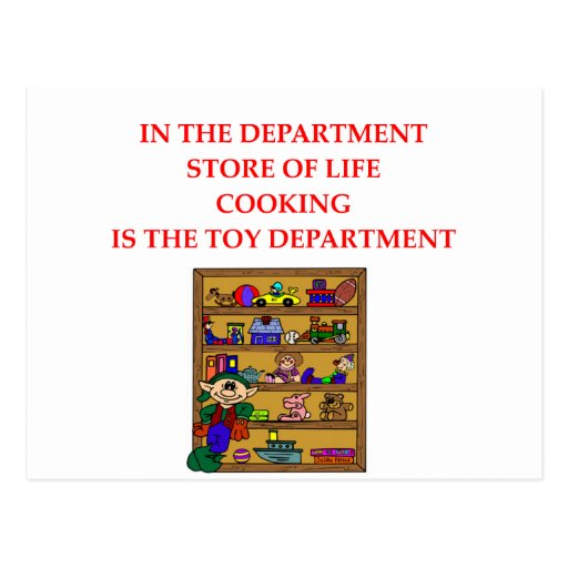 COOKING ngifts and t-sirts Postcard