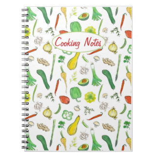 Cooking Notebook Fresh Vegetables Illustration Art
