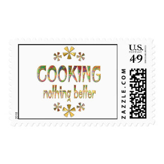 COOKING Nothing Better Postage Stamps