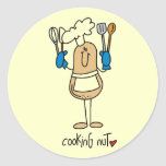 Cooking Nut Tshirts and Gifts Round Sticker