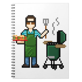 Cooking on the BGE grill Spiral Notebook