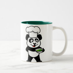 Two-Tone Mug with Cooking Panda design