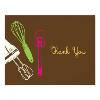 Cooking Party Thank You Card Custom Invites