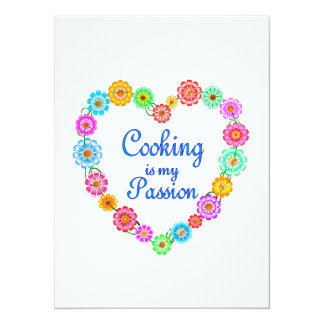 Cooking Passion Personalized Invites