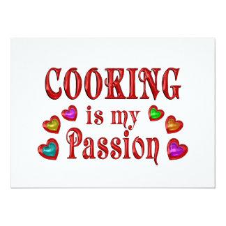 Cooking Passion Custom Invitations