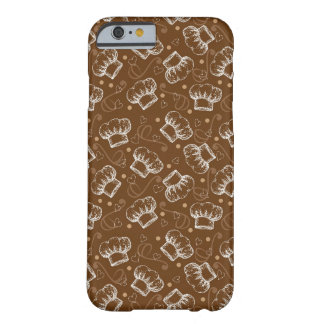 Cooking pattern with chef hat iPhone 6 case