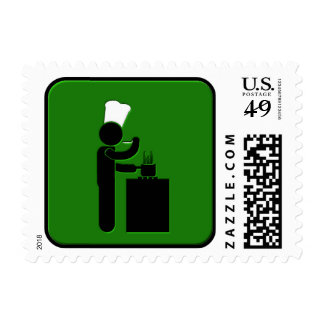 Cooking Postage Stamp