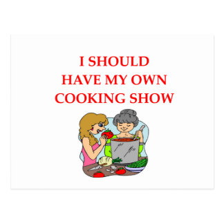 cooking postcard