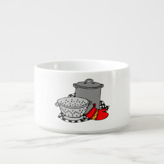 Cooking Pot and Strainer Chili Bowl