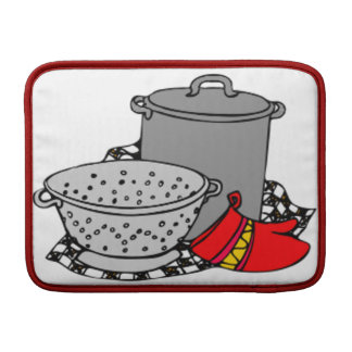 Cooking Pot and Strainer MacBook Sleeve