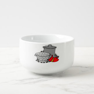 Cooking Pot and Strainer Soup Mug