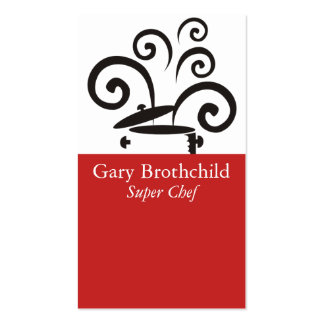Cooking pot big curly steam chef catering busin... Double-Sided standard business cards (Pack of 100)