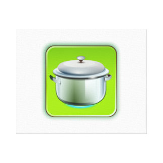 Cooking Pot Stretched Canvas Print