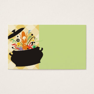 cooking pot flavor burst chef catering business ca business card