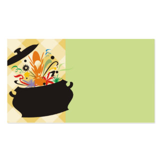 cooking pot flavor burst chef catering business ca Double-Sided standard business cards (Pack of 100)