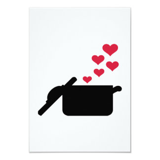 Cooking pot red hearts announcement