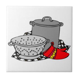 Cooking Pot Strainer Tile