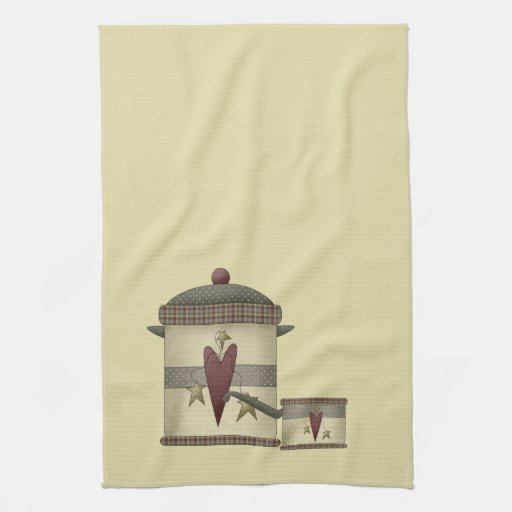 Cooking Pots and Hearts Hand Towels