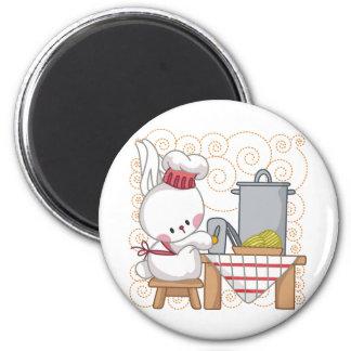 Cooking Rabbit 2 Inch Round Magnet