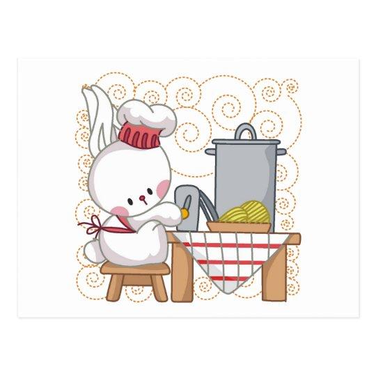Cooking Rabbit Postcard