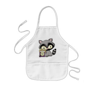 Cooking Raccoon kitchen kids apron