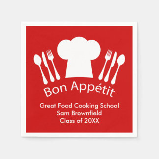 Cooking School Culinary Institute Graduation Gift Paper Napkin